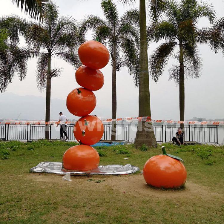 广州四会橘子不锈钢雕塑