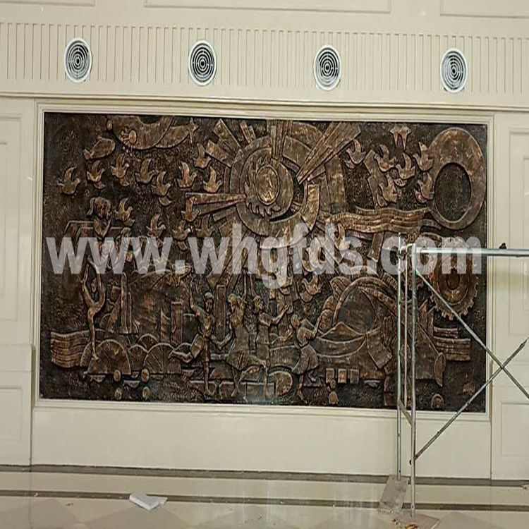 玻璃钢仿铜浮雕安装现场