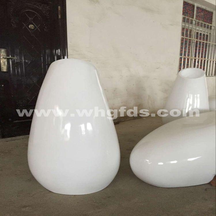 白色烤漆玻璃钢花盆