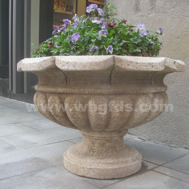 汉街艺术砂岩花钵