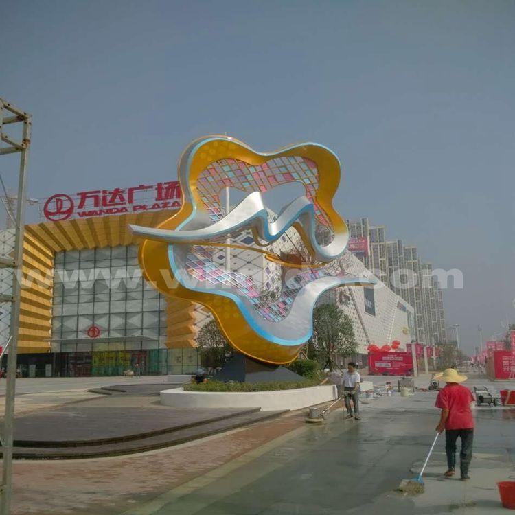 湖南常德万达广场不锈钢雕塑