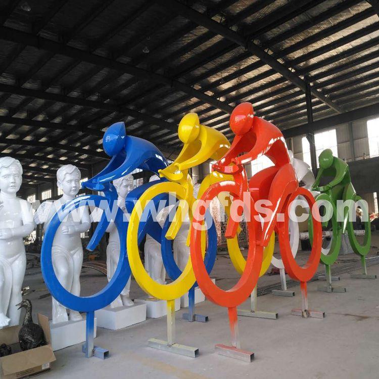 不锈钢运动造型雕塑