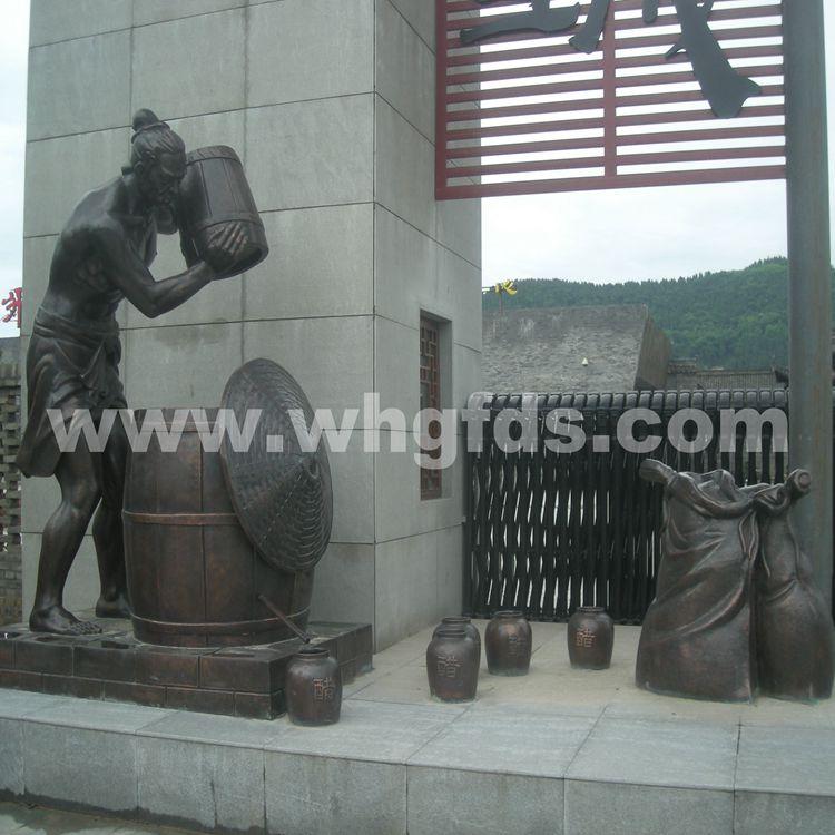 张飞牛肉工业园锻铜雕塑
