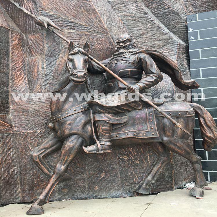张飞人物锻铜雕塑